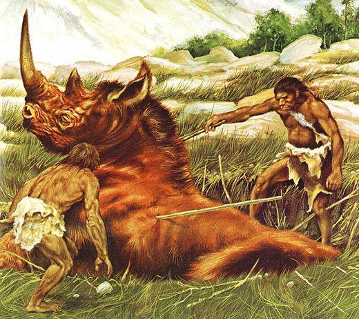 caveman hunting