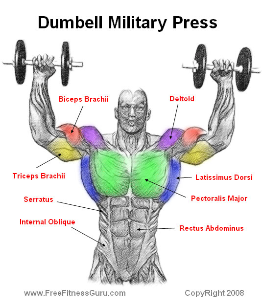 dumbell military press